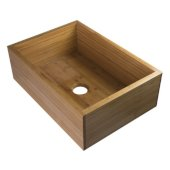 30'' Single Bowl Bamboo Kitchen Farm Sink, 30'' W x 21'' D x 9-7/8'' H