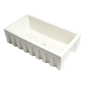 ALFI brand 33'' x 18'' Reversible Fluted / Smooth Fireclay Farm Sink in Biscuit, 31-1/8'' W x 18-1/8'' D x 10'' H