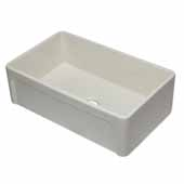 33'' Biscuit Reversible Single Fireclay Farmhouse Kitchen Sink, 32-5/8'' W x 20-1/8'' D x 9-7/8'' H