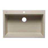 Biscuit 33'' Single Bowl Drop In Granite Composite Kitchen Sink, 33'' W x 22'' D x 9-1/2'' H