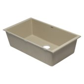 Biscuit 33'' Single Bowl Undermount Granite Composite Kitchen Sink, 33'' W x 19-3/8'' D x 9-1/2'' H