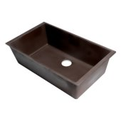 ALFI brand 33'' Single Bowl Undermount Granite Composite Kitchen Sink in Chocolate, 33'' W x 19-3/8'' D x 9-7/8'' H