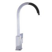 Polished Chrome Gooseneck Single Hole Bathroom Faucet, Height: 15-31/32'' H, Spout Height: 12-1/32'' H, Spout Reach: 7'' D