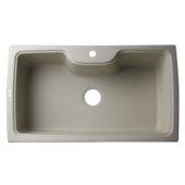 Biscuit 35'' Drop-In Single Bowl Granite Composite Kitchen Sink, 34-5/8'' W x 19-2/3'' D x 9-1/8'' H