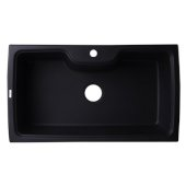 Black 35'' Drop-In Single Bowl Granite Composite Kitchen Sink, 34-5/8'' W x 19-2/3'' D x 9-1/8'' H