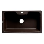 ALFI brand 35'' Drop-In Single Bowl Granite Composite Kitchen Sink in Chocolate, 34-5/8'' W x 19-2/3'' D x 9-1/8'' H