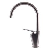 Brushed Nickel Gooseneck Single Hole Bathroom Faucet, Height: 14-29/32'' H, Spout Height: 9-25/32'' D, Spout Reach: 8-31/32'' D