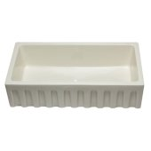 36'' Biscuit Reversible Smooth / Fluted Single Bowl Fireclay Farm Sink, 36'' W x 18'' D x 10'' H
