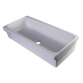 36'' White Above Mount Porcelain Bath Trough Sink, 35-1/2'' W x 17-3/4'' D x 7-7/8'' H