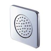 Polished Chrome Flush Mounted Shower Body Spray, 4-1/8'' W x 4-1/8'' D x 3-1/4'' H
