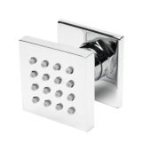 ALFI brand 2'' Square Adjustable Shower Body Spray in Polished Chrome, 2'' W x 1-3/4'' D x 2'' H