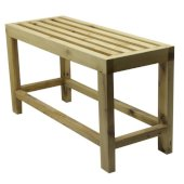 26'' Solid Wooden Slated Single Person Sitting Bench, 25-5/8'' W x 9-7/8'' D x 13-3/4'' H