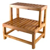 20'' Double Wooden Stepping Stool Multi-Purpose Accessory, 20-1/2'' W x 15-3/4'' D x 20-1/2'' H
