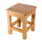 10'' x 10'' Square Wooden Bench/Stool Multi-Purpose Accessory, 9-7/8'' W x 9-7/8'' D x 11-3/4'' H