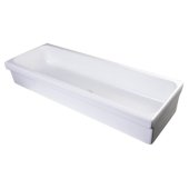 48'' White Above Mount Porcelain Bath Trough Sink, 47-1/4'' W x 17-3/4'' D x 7-7/8'' H