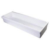 48'' White Above Mount Porcelain Bath Trough Sink, 47-1/4'' W x 17-3/4'' D x 7-7/8'' H