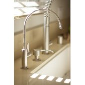 Solid Brushed Stainless Steel Modern Soap Dispenser, 2-1/2'' H