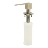 Modern Square Brushed Stainless Steel Soap Dispenser, 1-1/4'' W x 1-1/4'' D x 11-1/8'' H
