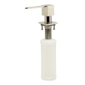 Modern Square Polished Stainless Steel Soap Dispenser, 1-1/4'' W x 1-1/4'' D x 11-1/8'' H