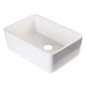 Biscuit 23'' Smooth Apron  Fireclay Single Bowl Farmhouse Kitchen Sink, 23-3/8'' W x 16-1/8'' D x 8'' H
