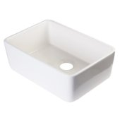 24'' Biscuit Single Bowl Fireclay Undermount Kitchen Sink, 23-3/8'' W x 16-1/8'' D x 8'' H