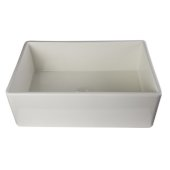 Biscuit 30'' Contemporary Smooth Apron Fireclay Farmhouse Kitchen Sink, 29-7/8'' W x 19-3/4'' D x 10'' H