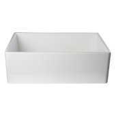 White 30'' Contemporary Smooth Apron Fireclay Farmhouse Kitchen Sink, 29-7/8'' W x 19-3/4'' D x 10'' H