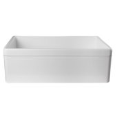 White 30'' Decorative Lip Apron Single Bowl Fireclay Farmhouse Kitchen Sink, 29-7/8'' W x 19-3/4'' D x 10'' H