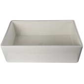 33'' Biscuit Smooth Apron Single Bowl Fireclay Farm Sink, 33'' W x 20'' D x 10'' H