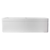 White 32'' Decorative Lip Apron Double Bowl Fireclay Farmhouse Kitchen Sink, 32-3/4'' W x 19-7/8'' D x 10'' H