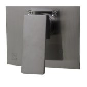 Brushed Nickel Shower Valve Mixer with Square Lever Handle, 5-7/8'' W x 6-5/8'' D x 2'' H
