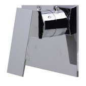 Polished Chrome Shower Valve Mixer with Square Lever Handle, 5-7/8'' W x 6-5/8'' D x 2'' H