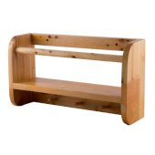 18'' Wall Mounted Wooden Shelf & Hooks Bathroom Accessory, 17-3/4'' W x 9-7/8'' D x 4'' H
