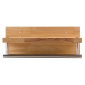 16'' Wooden Shelf with Chrome Towel Bar Bathroom Accessory, 15-3/4'' W x 5-7/8'' D x 4-3/4'' H