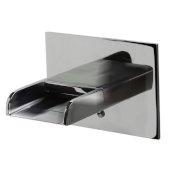 Polished Chrome Waterfall Tub Filler, 4-7/8'' W x 6'' D x 4-3/8'' H