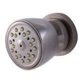 Brushed Nickel Modern Round Adjustable Shower Body Spray, 2-1/4'' Diameter x 3-1/4'' H