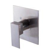 Brushed Nickel Modern Square Pressure Balanced Shower Mixer, 5-3/4'' W x 6-5/16'' D x 3-1/2'' H