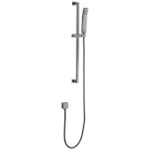 Brushed Nickel Sliding Rail Hand Held Shower Head Set with Hose, 26-3/4'' W x 1-1/2'' D x 1/2'' H