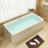 67'' White Rectangular Acrylic Free Standing Soaking Bathtub, 66-7/8'' W x 29-1/2'' D x 23-1/4'' H