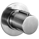 Brushed Nickel Modern Round 3 Way Shower Diverter, 5-1/8'' Diameter x 4'' Depth