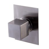 Brushed Nickel Modern Square 3 Way Shower Diverter, 3-3/4'' W x 5-1/8'' D x 2-1/2'' H