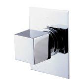 Polished Chrome Modern Square 3 Way Shower Diverter, 3-3/4'' W x 5-1/8'' D x 2-1/2'' H