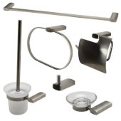 AB9503 Series Brushed Nickel 6-Piece Matching Bathroom Accessory Set