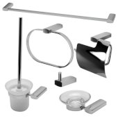 AB9503 Series Polished Chrome 6-Piece Matching Bathroom Accessory Set