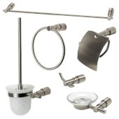 AB9508 Series Brushed Nickel 6-Piece Matching Bathroom Accessory Set