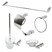 AB9508 Series Polished Chrome 6-Piece Matching Bathroom Accessory Set
