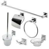 AB9509 Series Polished Chrome 6-Piece Matching Bathroom Accessory Set
