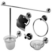 AB9513 Series Polished Chrome 6-Piece Matching Bathroom Accessory Set