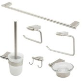 AB9515 Series Brushed Nickel 6-Piece Matching Bathroom Accessory Set
