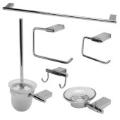 AB9515 Series Polished Chrome 6-Piece Matching Bathroom Accessory Set